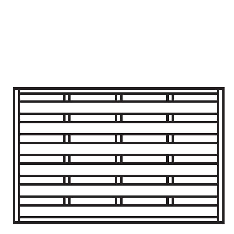 Sichtschutzzaun / Zaunelement Dichtzaun kdi 180x120cm Bild 1