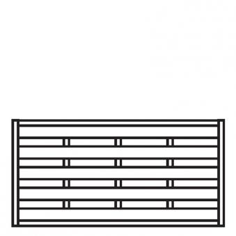 Sichtschutzzaun / Zaunelement Dichtzaun kdi 180x90cm Bild 1