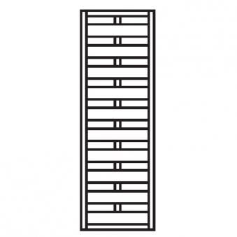 Sichtschutzzaun / Zaunelement Dichtzaun kdi 60x180cm Bild 1
