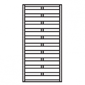 sichtschutzzaun zaunelement dichtzaun klassik kdi 90 x 180 cm bei. Black Bedroom Furniture Sets. Home Design Ideas