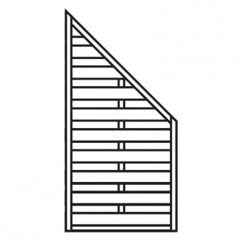 Sichtschutzzaun / Zaunelement Dichtzaun schräg kdi 90x180/90cm Bild 1