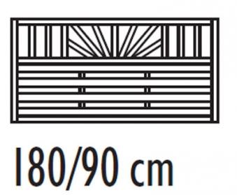 sichtschutzzaun freiburg zaunelement kdi 180 x 90 cm bei. Black Bedroom Furniture Sets. Home Design Ideas
