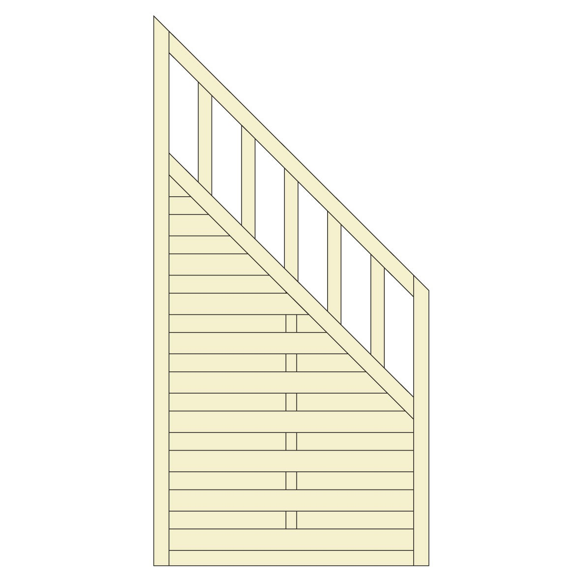 sichtschutzzaun freiburg zaunelement dichtzaun holz kdi 90x180 90cm bei. Black Bedroom Furniture Sets. Home Design Ideas