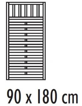 sichtschutzzaun freiburg zaunelement dichtzaun kdi 90 x 180 cm bei. Black Bedroom Furniture Sets. Home Design Ideas