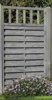 Sichtschutzzaun Freiburg / Zaunelement Dichtzaun KDI grau 90x180cm Bild 1