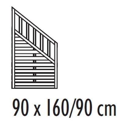 Sichtschutzzaun Freiburg / Zaunelement Holz kdi 90 x 160/90 cm Bild 2