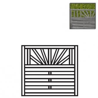 Sichtschutzzaun Torelement Freiburg Pforte Holz KDI grau 100x90cm Bild 1