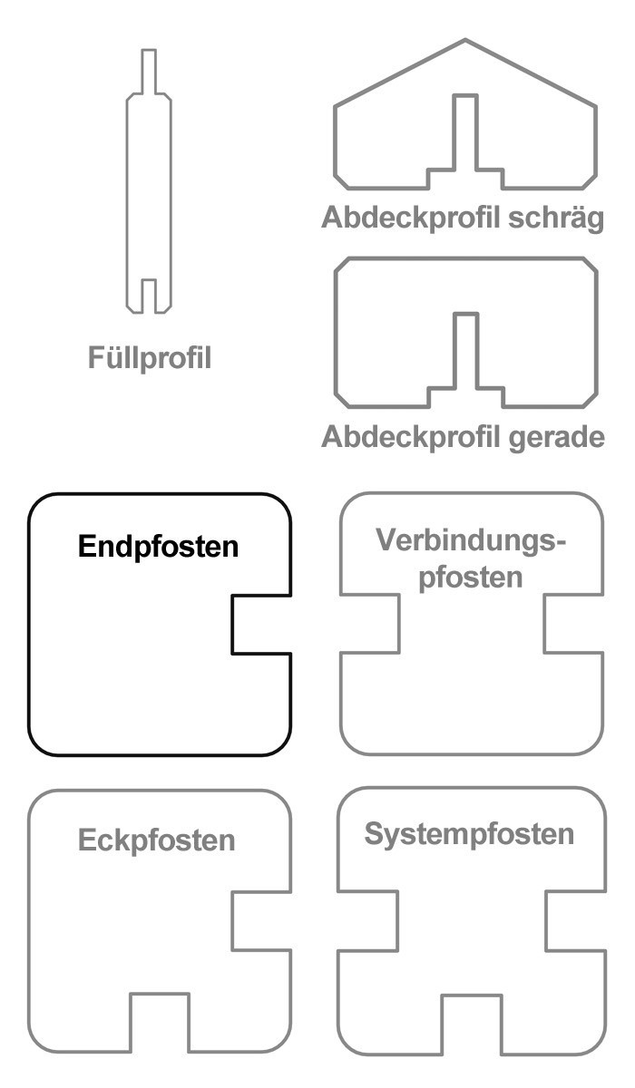 Sichtschutzzaun / Selbstbauzaun Gardo Endpfosten Lärche 180x9x9cm Bild 3