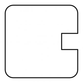 Sichtschutzzaun / Selbstbauzaun Gardo Endpfosten Lärche 180x9x9cm Bild 1
