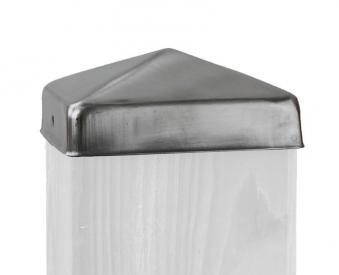 Pfostenkappe Pyramide Edelstahl für Sichtschutz / Zaun 9x9cm