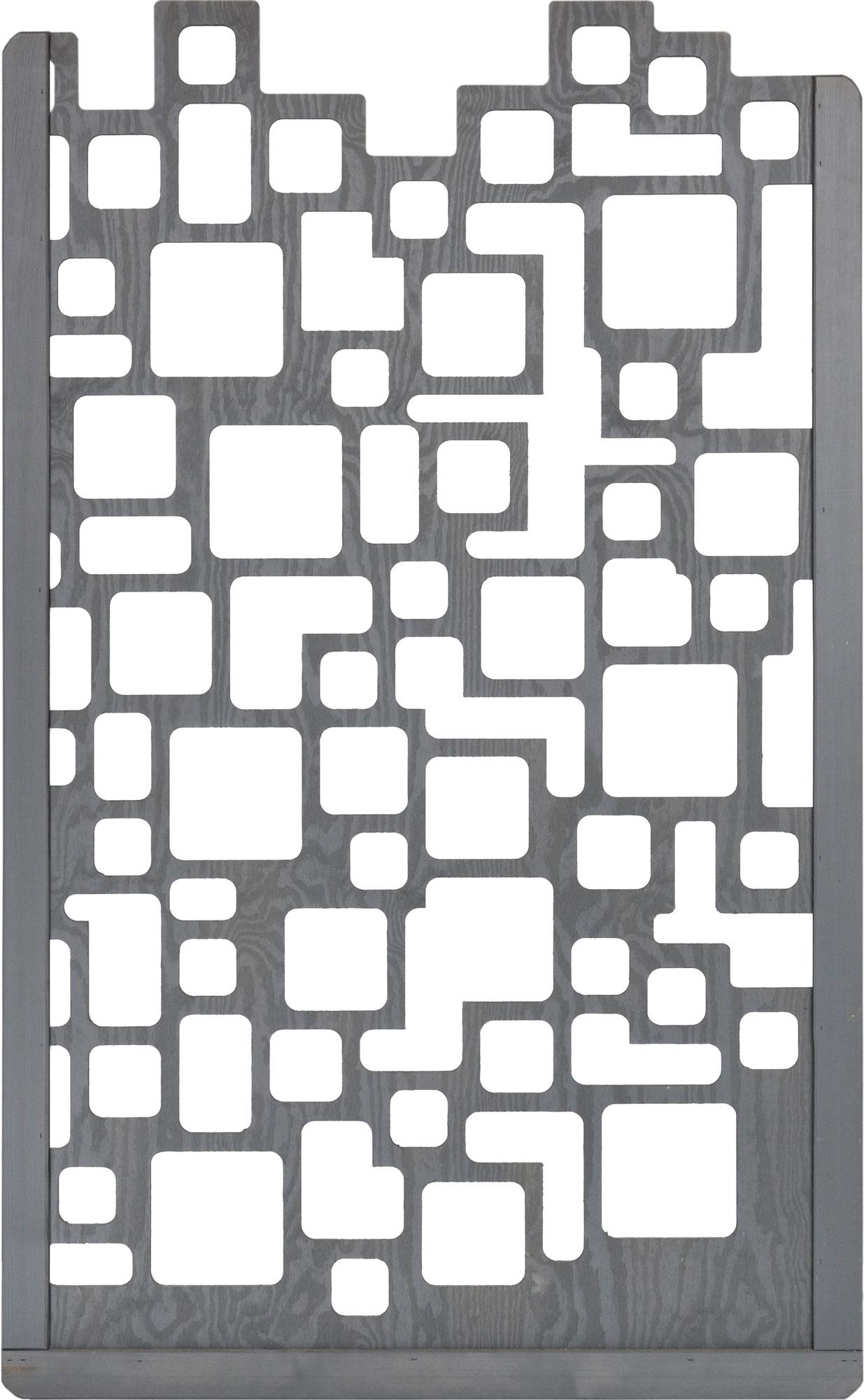 Zaunelement / Zierelement Lira Dimplex basaltgrau lasiert 90x180cm Bild 1
