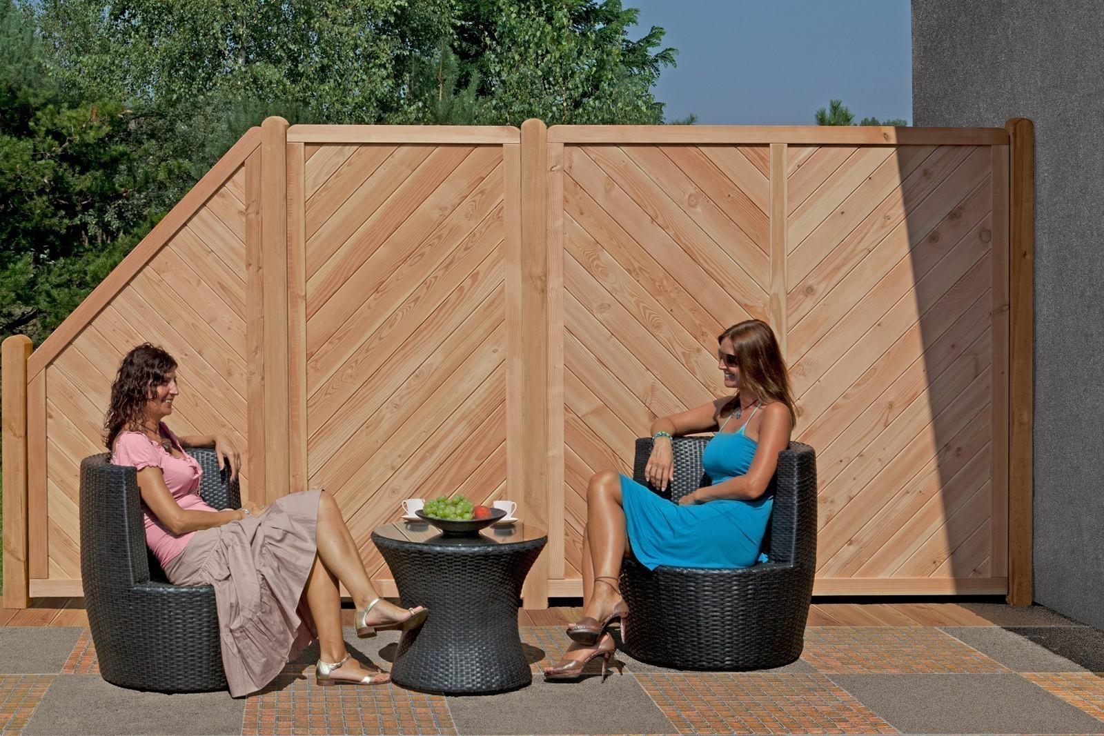 Sichtschutz Zaun Lisa Larche Schrag Element 90x180 90cm Bei