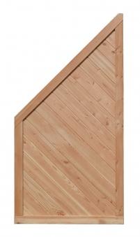 Sichtschutz Zaun Lisa Lärche Schräg-Element 90x180/90cm