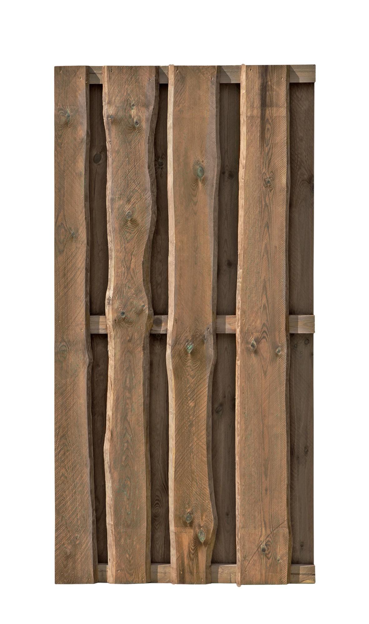 Sichtschutzzaun / Zaunelement Bohlenzaun Natura 90x180cm Bild 1