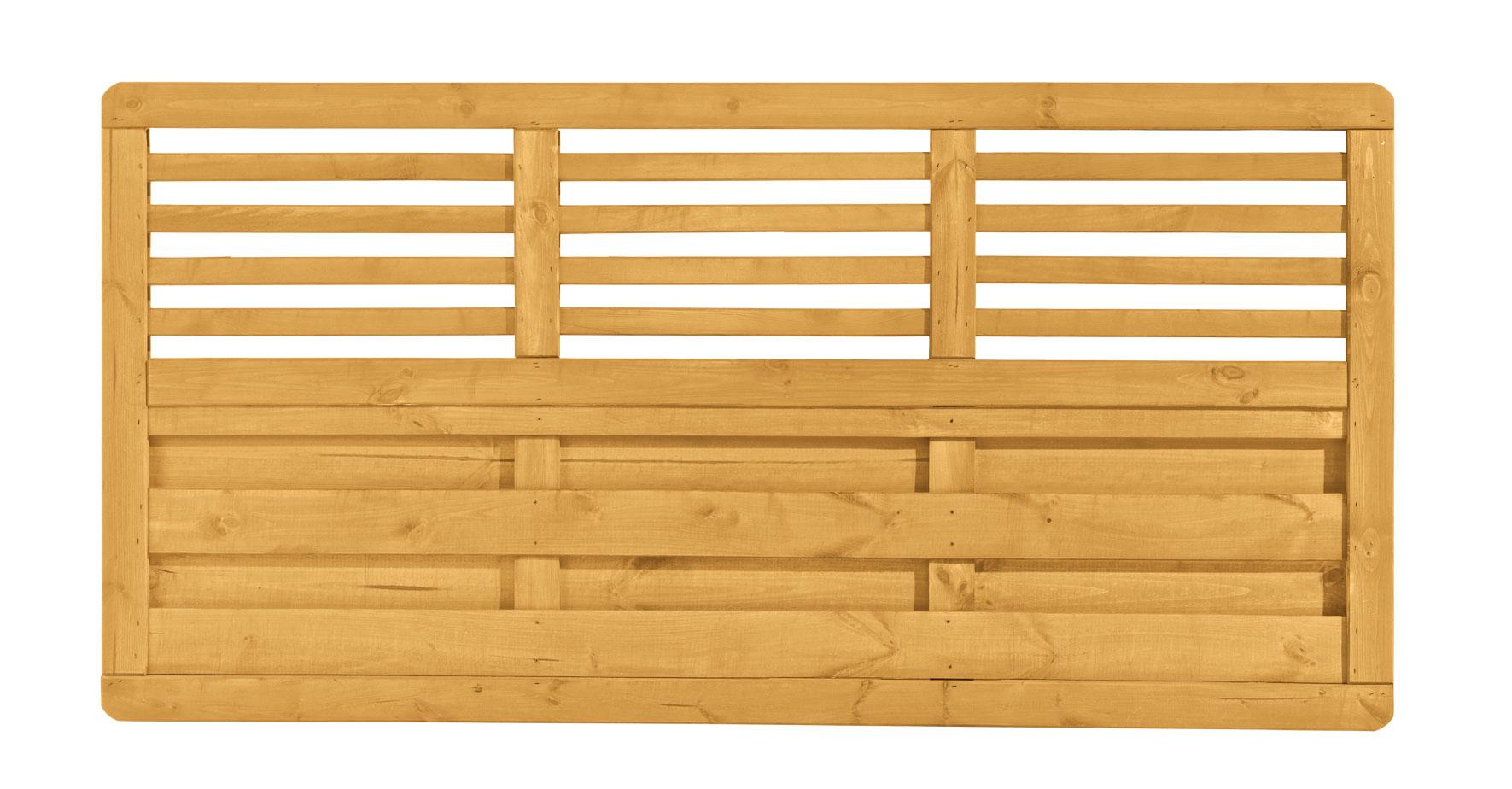 sichtschutzzaun zaunserie sarah dimplex lasiert pinie 180x90cm bei. Black Bedroom Furniture Sets. Home Design Ideas