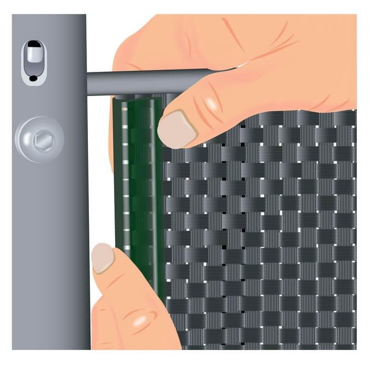 Klemmschiene Premium für Noor Zaunblende grün 15 Stück Bild 2