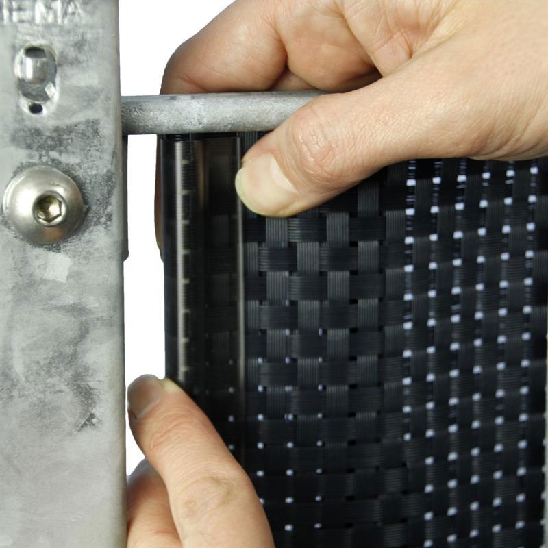 Klemmschiene Premium für Noor Zaunblende transparent 15 Stück Bild 2