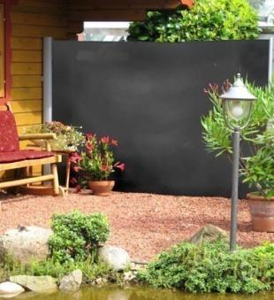 sichtschutz windschutz seitenmarkise dunkelgrau bei. Black Bedroom Furniture Sets. Home Design Ideas
