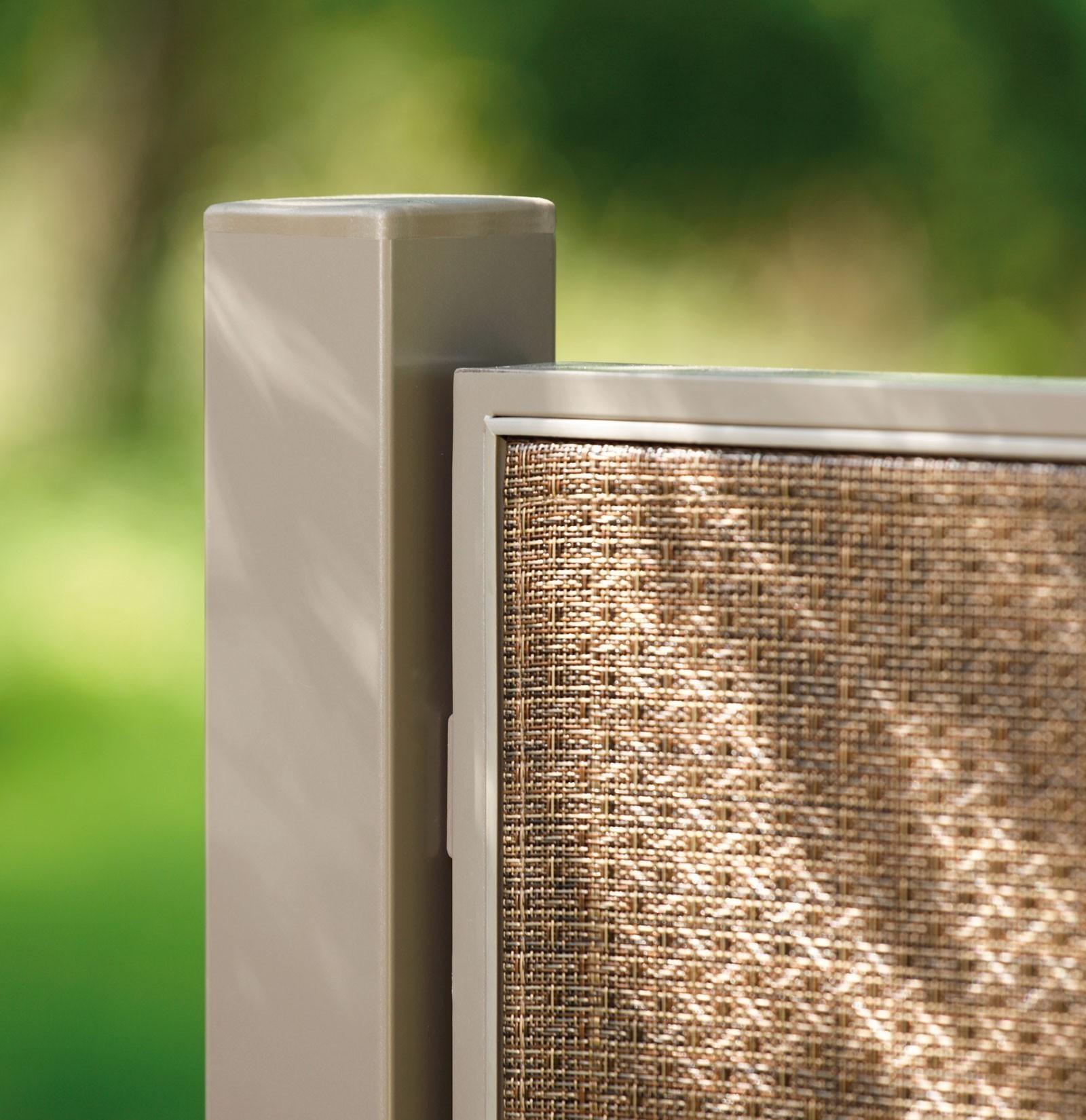 Pfosten für Sichtschutz Zaun Webschicht WEAVE LüX bronze 240 cm
