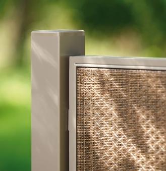 Pfosten für Sichtschutz / Zaun Webschicht WEAVE LÜX bronze 240 cm Bild 1