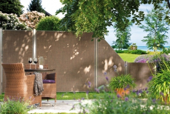 Pfosten für Sichtschutz / Zaun Webschicht WEAVE LÜX bronze 240 cm Bild 2