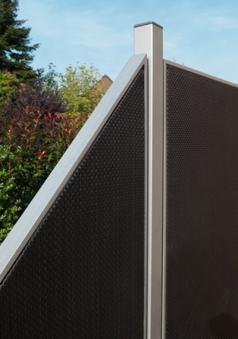 Pfosten für Sichtschutz / Zaun Webschicht WEAVE LÜX silber 240 cm Bild 1