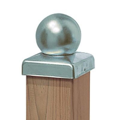 Pfostenkappe mit Kugel Edelstahl für Sichtschutz / Zaun WEAVE Bild 1