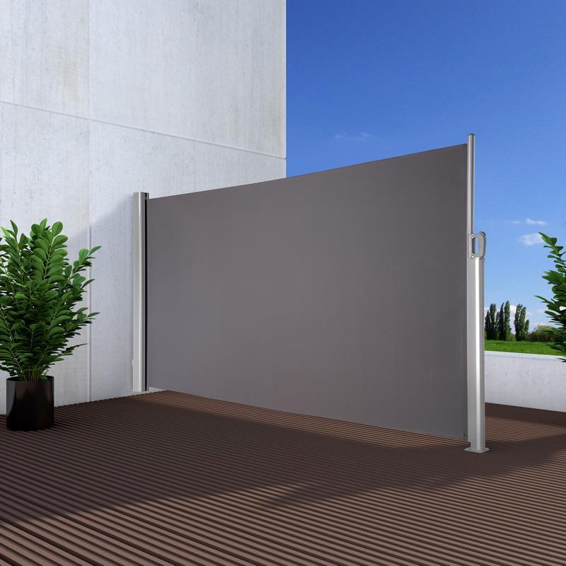 sichtschutz windschutz seitenmarkise premium noor 180x350cm anthr bei. Black Bedroom Furniture Sets. Home Design Ideas