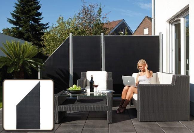 sichtschutz zaun weave l x anthrazit webschicht 88 x 178 88cm bei. Black Bedroom Furniture Sets. Home Design Ideas