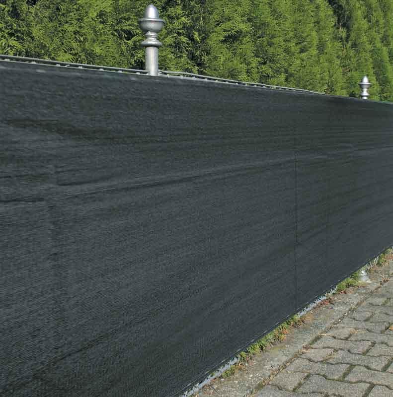 Sichtschutz / Zaunblende Noor 1,2x5m anthrazit 180g/m² Bild 1