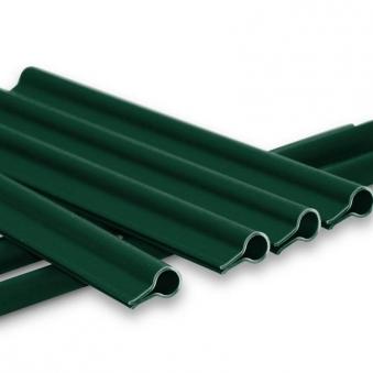 Klemmschiene Premium für Noor Zaunblende grün 15 Stück