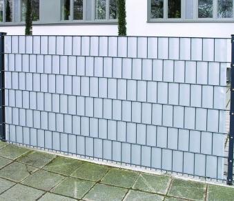 Sichtschutz / Zaunblende PVC Noor 0,19x35m hellgrau Bild 2