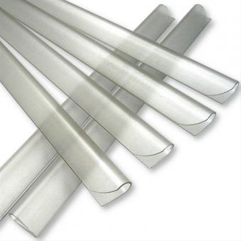 Klemmschienen für Noor Zaunblende transparent 25 Stück