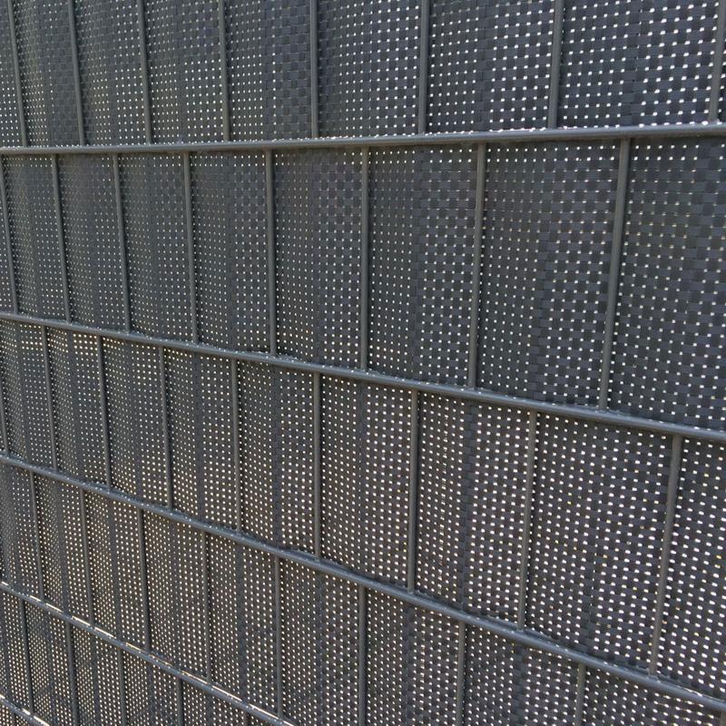 Sichtschutz / Zaunblende Rattan Noor 0,19x2,55m anthrazit
