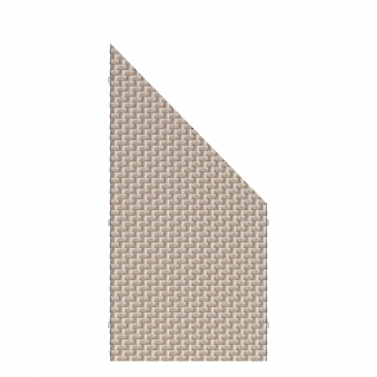 Sichtschutz Zaunelement Traumgarten WEAVE Polyrattan gray 88x88/178cm