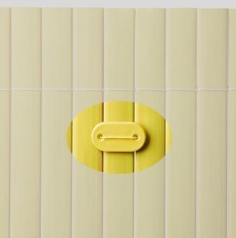 Befestigung zu Sichtschutzmatten PVC Noor 26 Stück bambus