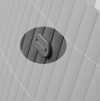 Befestigung zu Sichtschutzmatten PVC Noor 26 Stück anthrazit