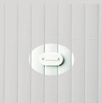 Befestigung zu Sichtschutzmatten PVC Noor 26 Stück weiß
