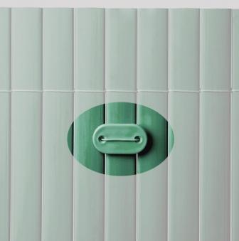 Befestigung zu Sichtschutzmatten PVC Noor 26 Stück grün