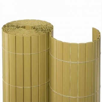 Sichtschutzmatte PVC Noor 2x10m Bambus Bild 1