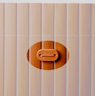Befestigung zu Sichtschutzmatten PVC Noor 26 Stück braun