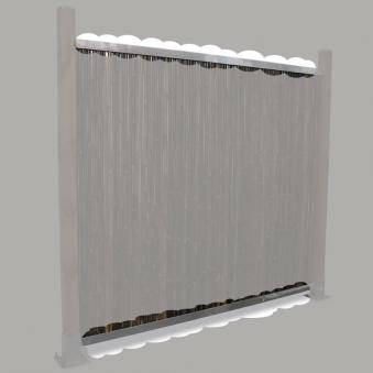 Montageprofil für Sichtschutzmatten Noor 180cm 2 Stück Bild 1