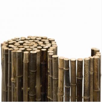Sichtschutzzaun / Bambusmatte Black Edition Noor 0,9x2,5m schwarz Bild 1