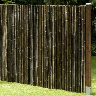 Sichtschutzzaun / Bambusmatte Black Edition Noor 0,9x2,5m schwarz Bild 2