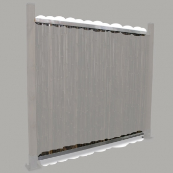 Montageprofil für Sichtschutzmatten Noor 180cm 2 Stück