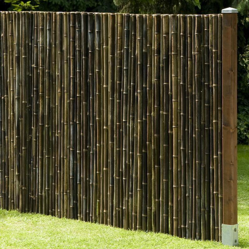 Sichtschutzzaun / Bambusmatte Black Edition Noor 1,5x2,5m schwarz Bild 2
