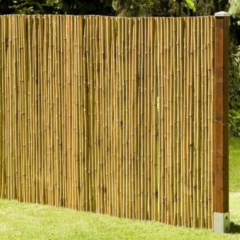 Sichtschutzzaun / Bambusmatte Deluxe Noor 0,9x2,5m natur Bild 2