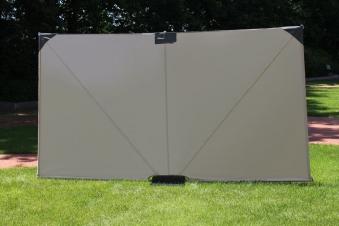 leco sichtschutz paravent mobiler sitzschutz 3x1 60m natur bei. Black Bedroom Furniture Sets. Home Design Ideas