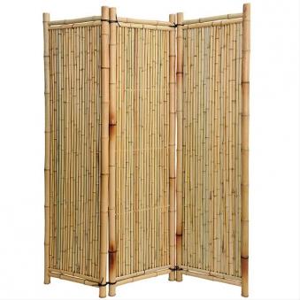 Sichtschutz paravent bambus noor 1 8x1 8m natur bei - Garten paravent bambus ...