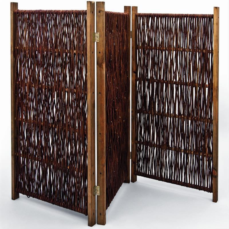 sichtschutz weiden paravent noor 1 2 x 1 8 m 3 teilig bei. Black Bedroom Furniture Sets. Home Design Ideas